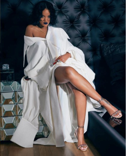 Rihanna Wore Cong Tri For A Photoshoot Of Manolo Blahnik So Stone Collection