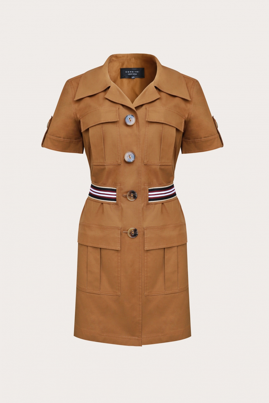 Skirt-suit in Khaki