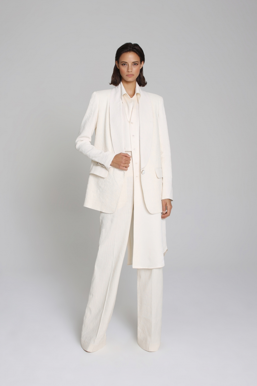 heavy-linen blazer set